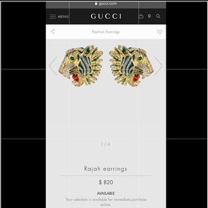 GUCCI rajah earrings